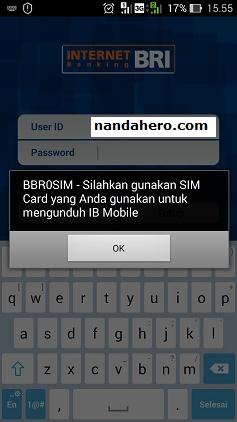 Cara Memperbaiki Internet Banking BRI Error bermasalah BBR0SIM di Aplikasi BRI Mobile