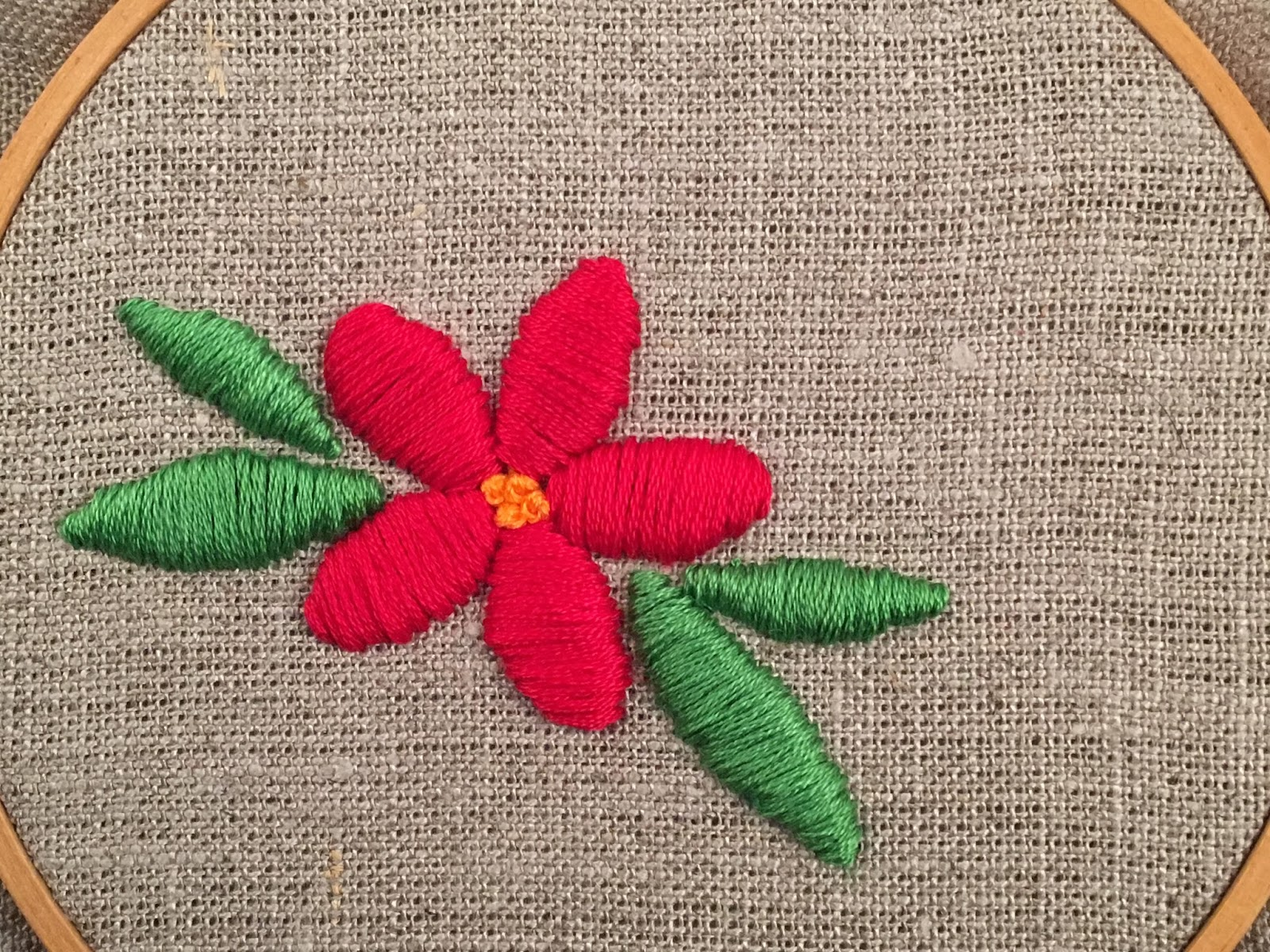 Feeling Stitchy Mooshiestitch Monday Padded Satin Stitch Flower