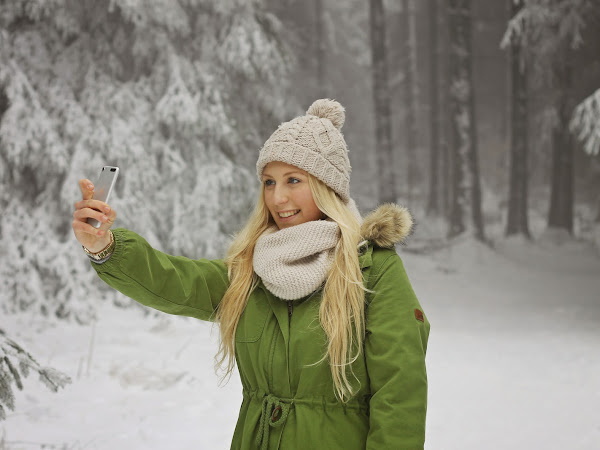 walking in a winter wonderland with my adidasNEO jacket