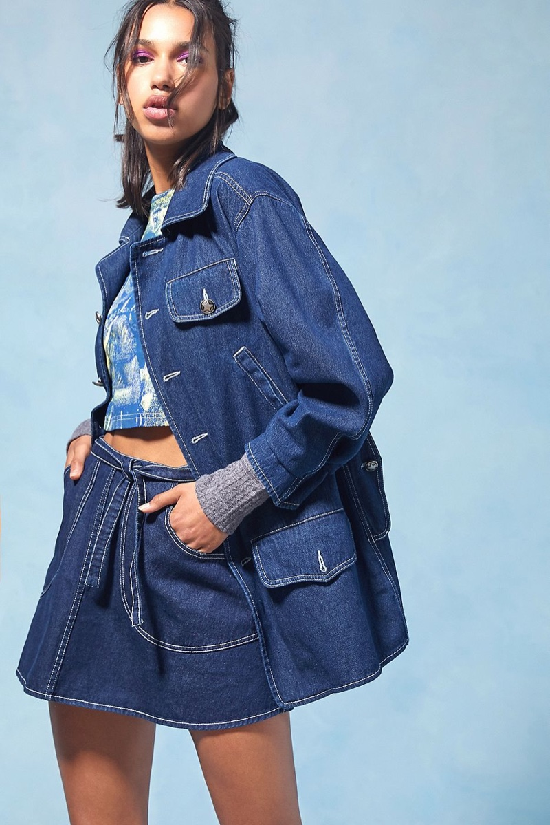 Anna Sui x Urban Outfitters Longline Denim Jacket