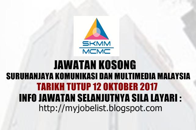 Jawatan Kosong Suruhanjaya Komunikasi Dan Multimedia Malaysia (MCMC) 2017