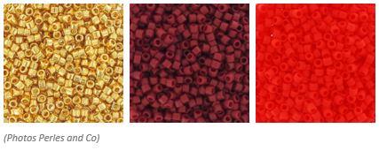 comment associer les couleurs des perles miyuki pour un tissage brickstitch