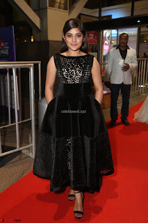 Niveda Thomas Black Sleeveless Cute Dress at 64th Jio Filmfare Awards South 2017 ~  Exclusive 067.JPG