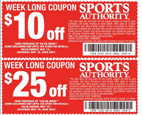 image relating to Big 5 Coupon Printable referred to as Sports activities authority printable inside of keep coupon codes 2018 / Wcco