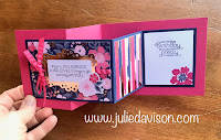VIDEO: Stampin' Up! Everything is Rosy Double Z Fold Card Tutorial ~ www.juliedavison.com