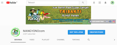 FOTO 1 : Subscribe Channel YouTube MANGYONOcom Sudah 2.837