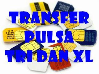 Cara Mudah Transfer Pulsa Kartu Tri dan Kartu XL/Axis Terbaru 2016