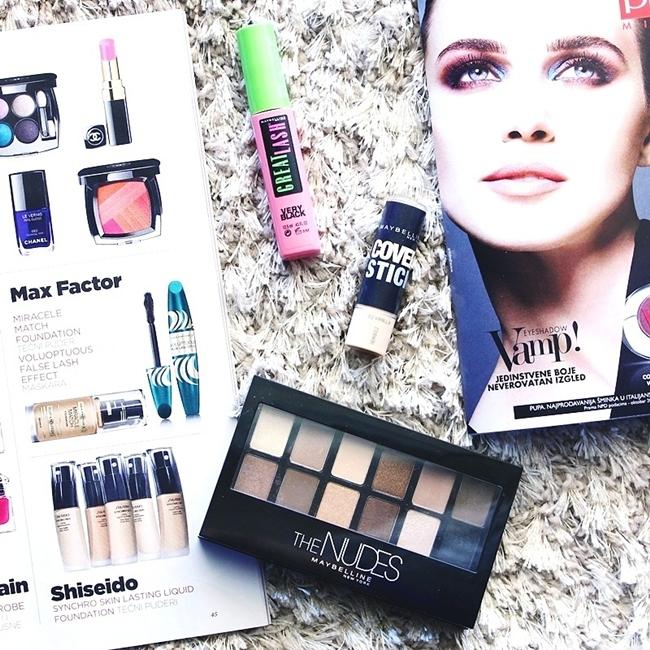 Jelena Zivanovic Instagram @lelazivanovic.Glam fab week.Must have eye makeup from Myabelline.Najbolje iz Maybelline-a za sminkanje ociju.
