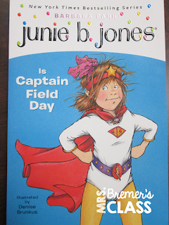 We had fun with the book Junie B Jones is Captain Field Day! We did a book study with companion activities, including taking a class survey to make predictions as to who would be the Field Day champions.