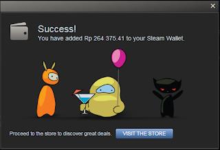 berhasil mendapatkan steam gift card