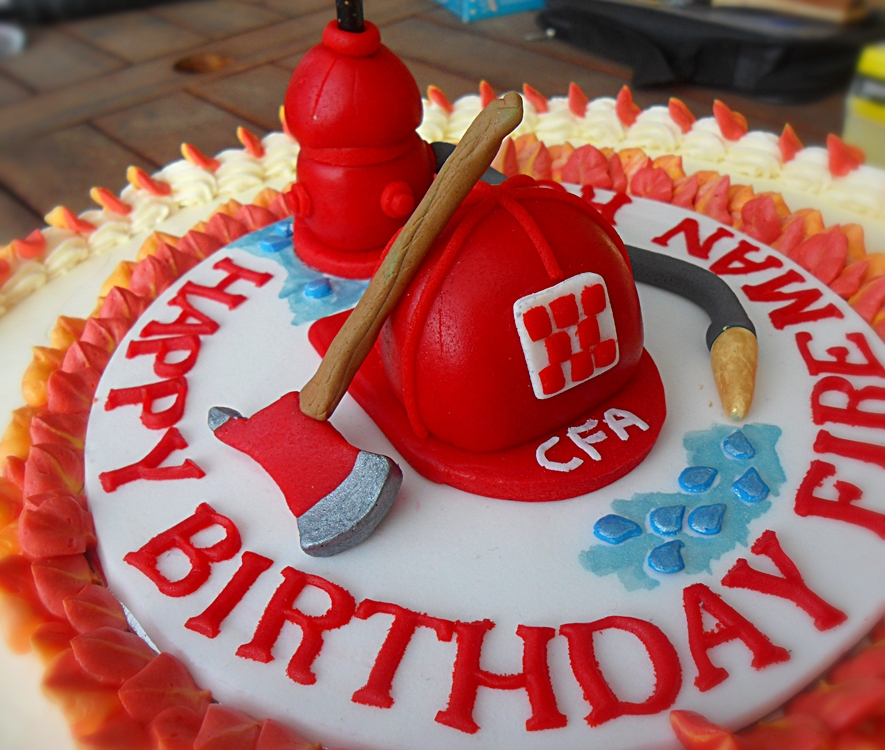 Happy Birthday Fireman Cake Traffic Club