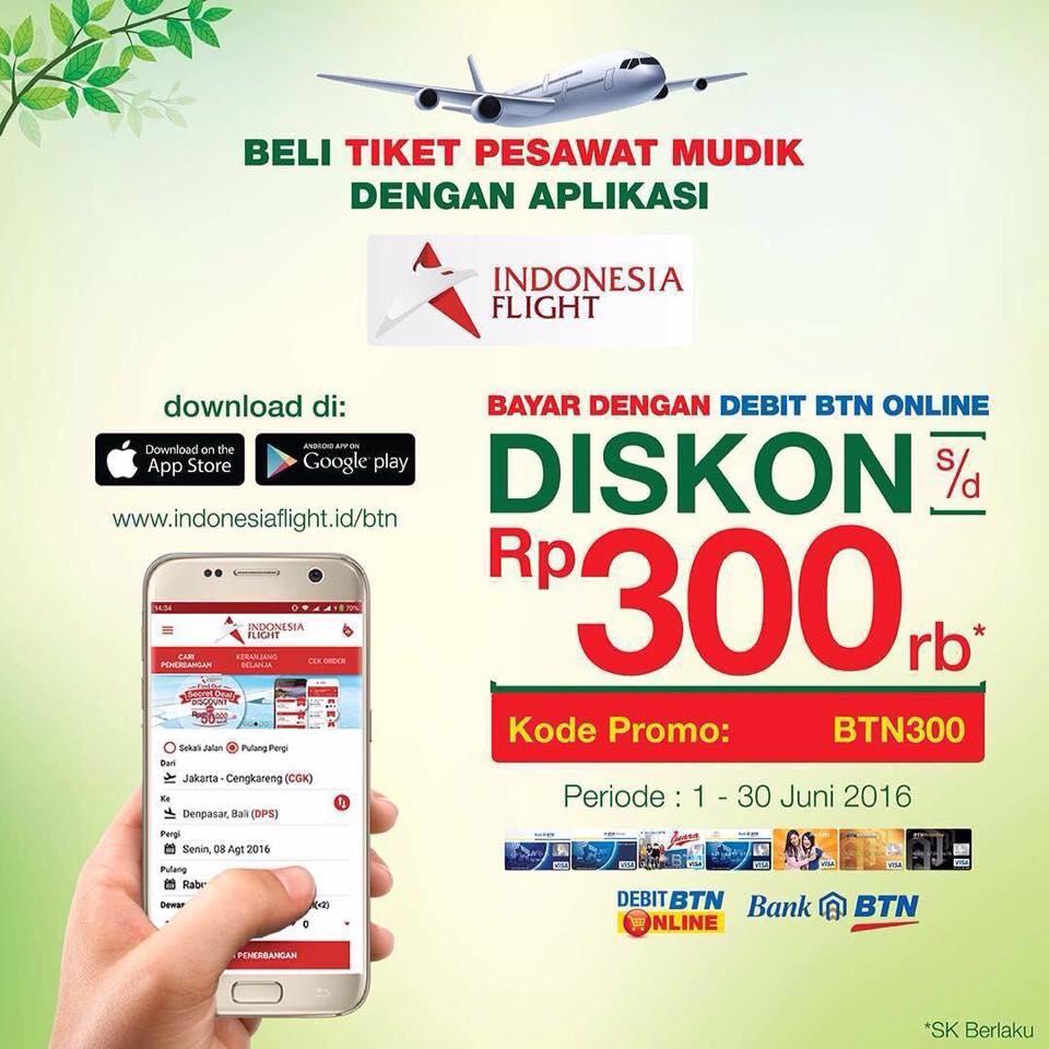 Beli Tiket Pesawat Mudik Diskon 300 Ribu Dengan Debit Btn Online Arreza