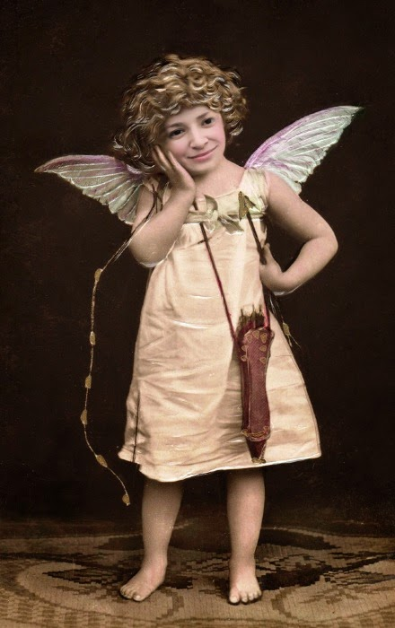 PhotoFunia cute Cupid Face effect with Wings online free