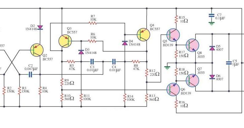 Simple 100W Inverter 12V to 220V Circuit Diagram ...