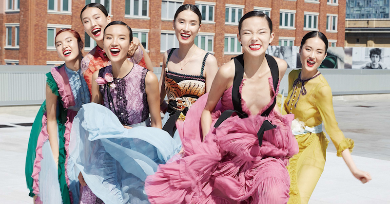 next generation 3.0: yuan bo chao, gia tang, jing wen, jing wen, dylan xue, luping wang and xiao wen ju by elaine constantine for vogue china november 2015