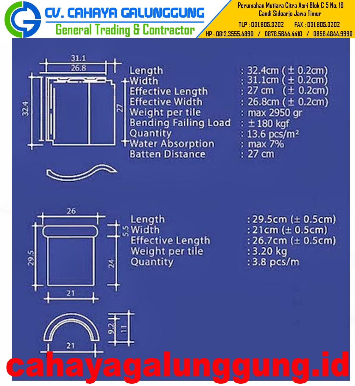 Genteng Keramik M Class  Daftar Harga Bahan Bangunan
