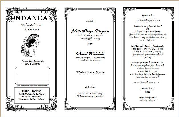 Download Undangan Walimatul Ursy Office Word