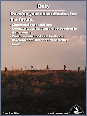 Duty - Develop your subordinates for the future.