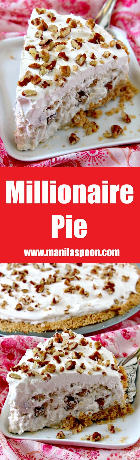 In 15 minutes or less you can make this easy and yummy classic pie that's creamy, fruity-sweet, light and no bake, too. We served this in a potluck and it was a huge hit! Perfect for Christmas and New Year celebrations!! | manilaspoon.com
