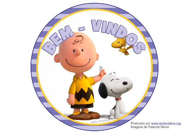 Placas para porta Snoopy Peanuts O Filme