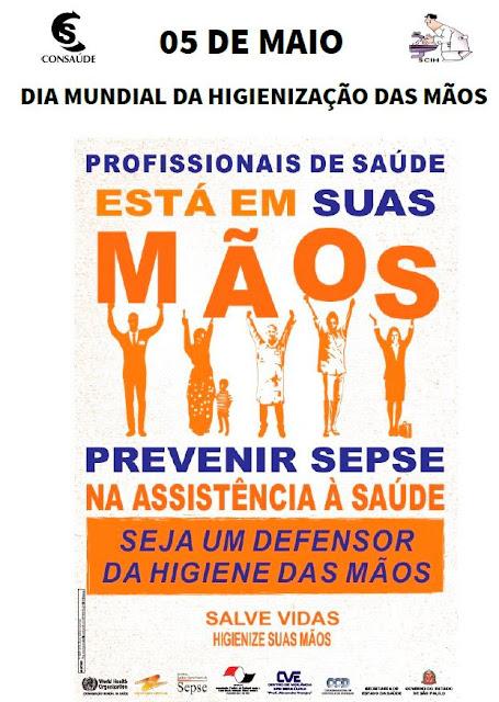 SCIH do HRLB promove campanha que incentiva higiene das mãos