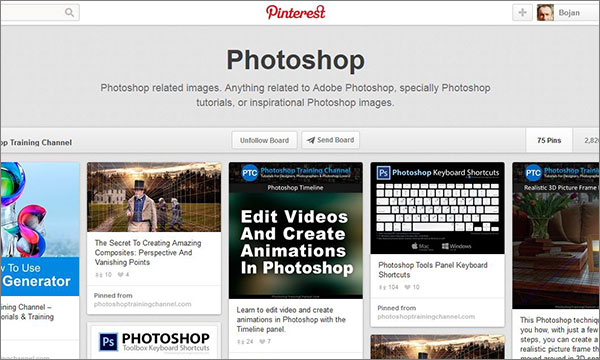 Photoshop Training Channel on Pinterest