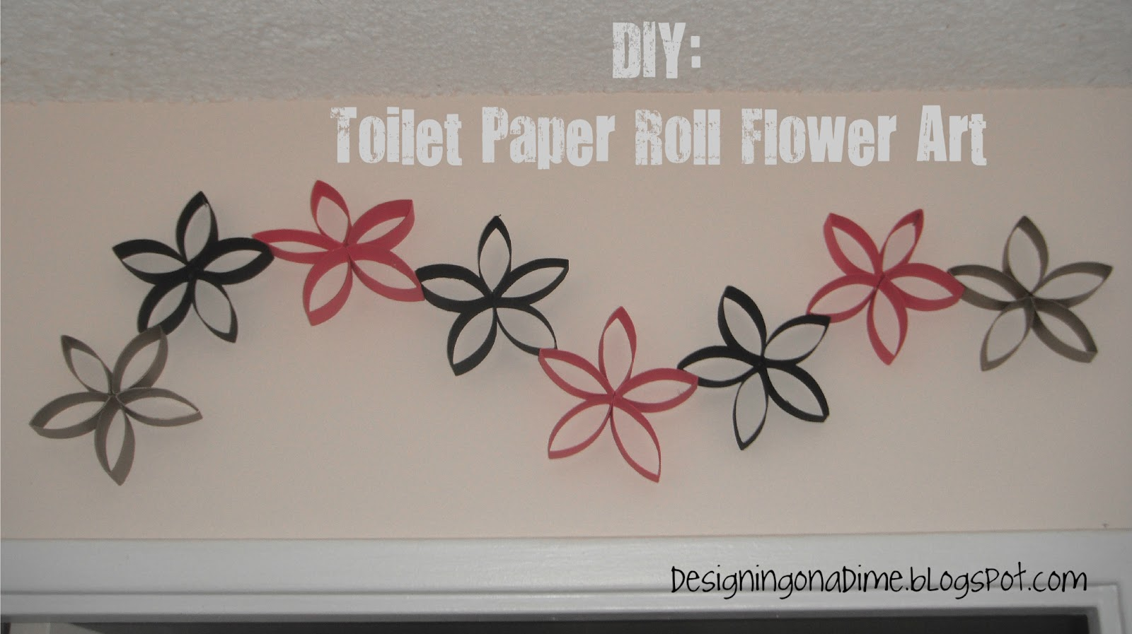 Home decor and decorating idea elitflat designs decor on a dime diy wall art made out of saveenlarge toilet paper flowers toilet rolls pinterest mightylinksfo