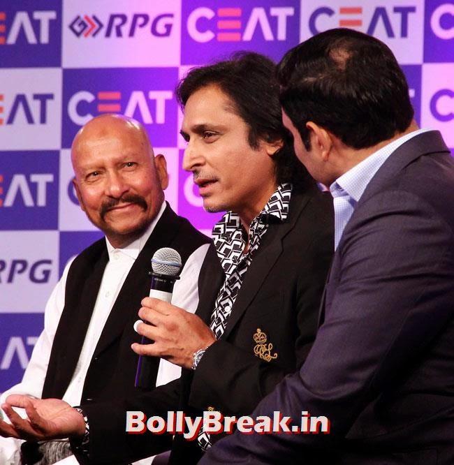 Syed Kirmani, Rameez Raja and V V S Laxman, Chitrangada Singh performed at CEAT Cricket Ratings Awards 2014