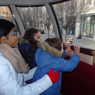 Akka Malli and Cousin on Double Decker Bus London