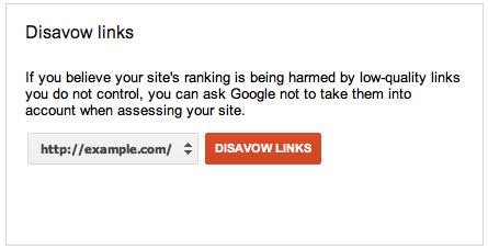 disavow links box tools