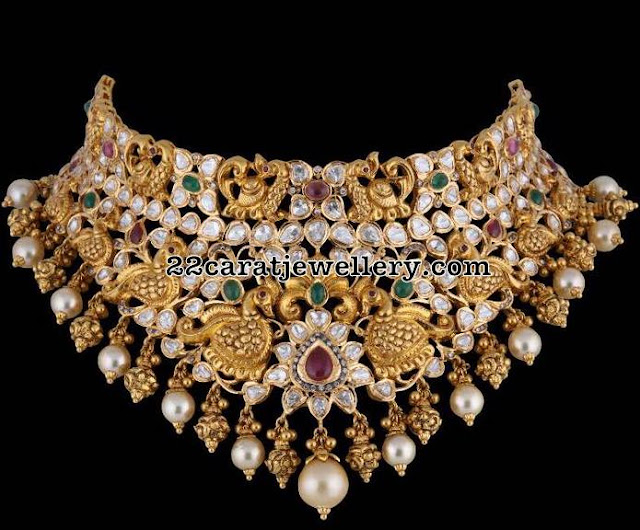 Heavy Peacock Sets by Satyanarayana Jewellers
