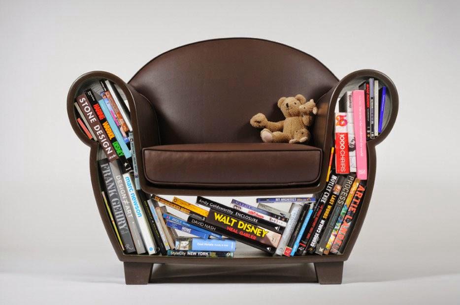 كرسي مجوف لتخزين الكتب