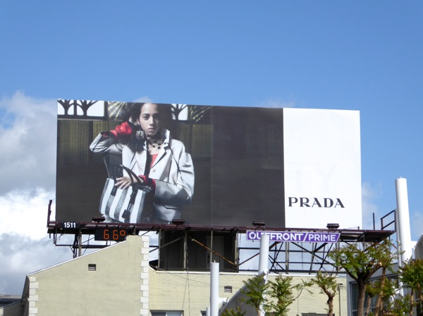 Prada Spring 2016 fashion billboard