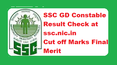 SSC GD Constable Result 2018-2019