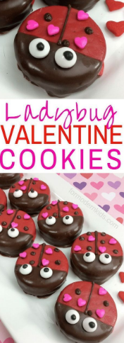 Valentine's Day Ladybug Oreo Treats for Kids