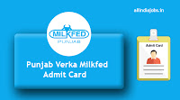 Punjab Verka Milkfed Admit Card