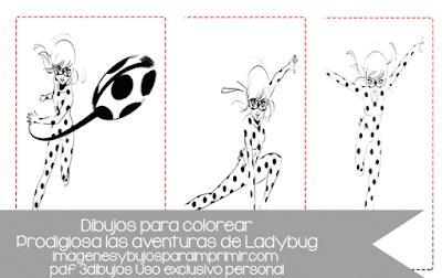 Imprimir y colorear ladybug de disney