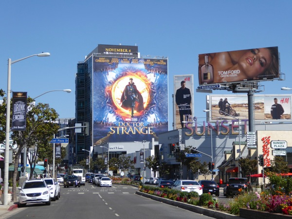 Giant Doctor Strange movie billboard
