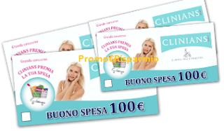 Logo Con Clinians vinci 89 buoni spesa da 100 euro