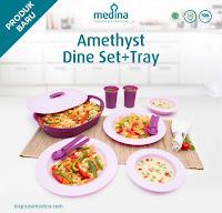 Dusdusan Amethyst Dine Set + Tray ANDHIMIND