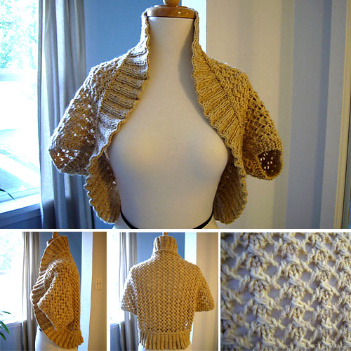 Bolero with Lace Pattern - Free Knit Pattern