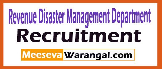 Revenue Disaster Management Department RDMD Recruitment