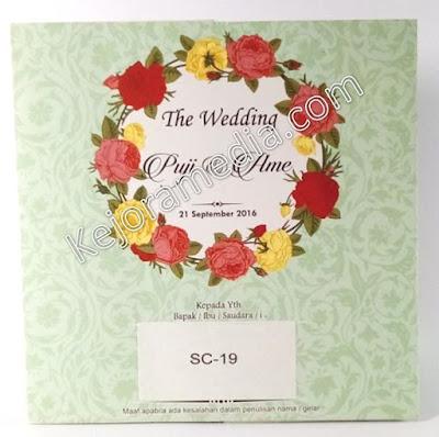 undangan pernikahan tema bunga cirebon