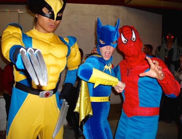 Halloween Wolverine Batgirl SpiderMan costumes