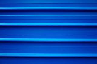 chantier bleu - photographie minimaliste