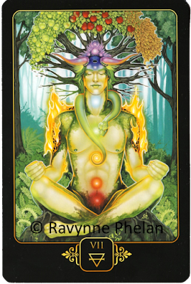 Dreams of Gaia Tarot Seven of Earth Ravynne Phelan