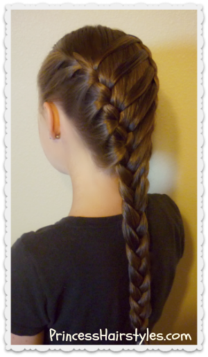 Waterfall twist ladder braid, school hairstyle