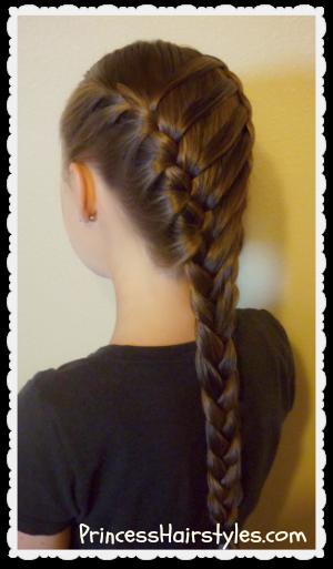 Super Waterfall Twist Ladder Braid Hairstyle School Hairstyles Short Hairstyles Gunalazisus