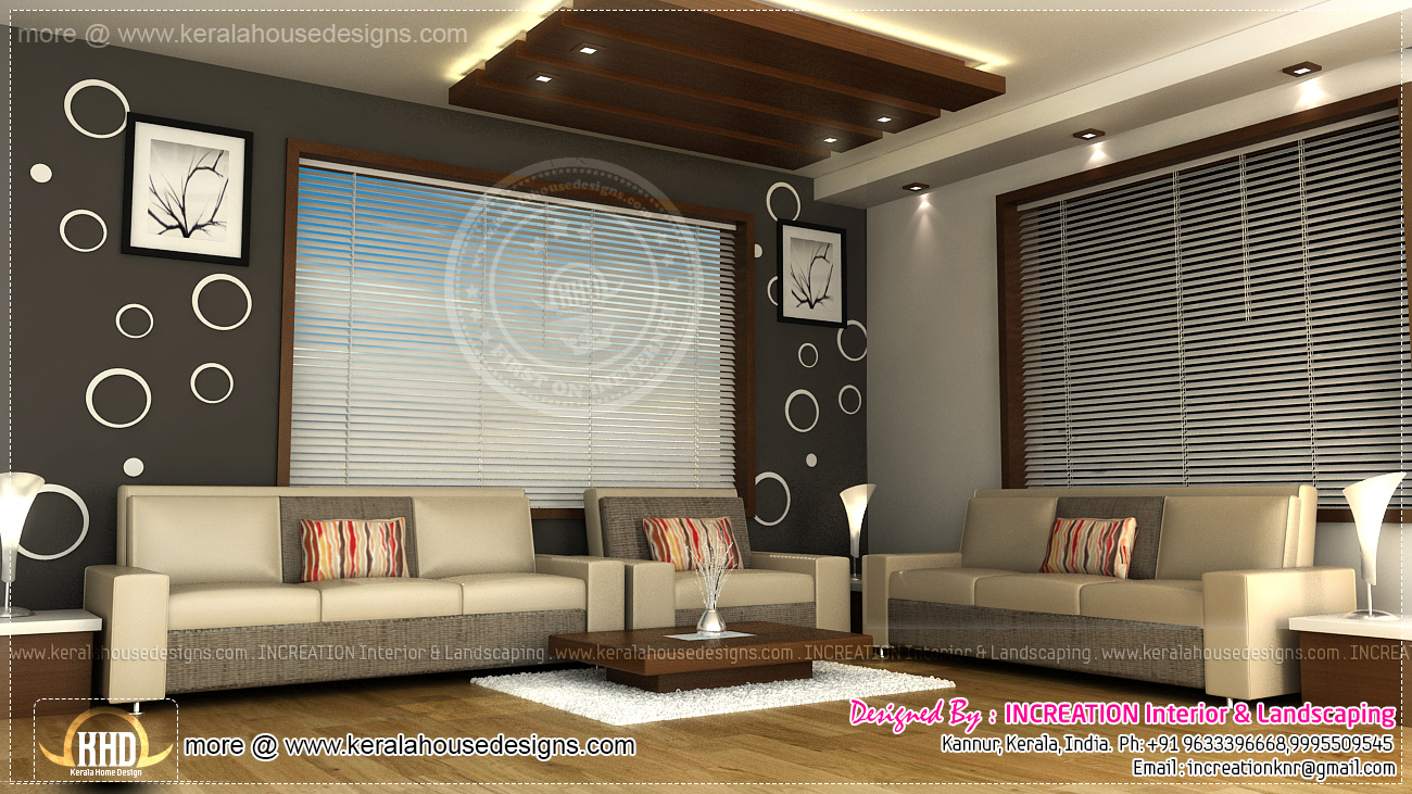 Interior designs from kannur kerala kerala home design for Interior design for living room roof