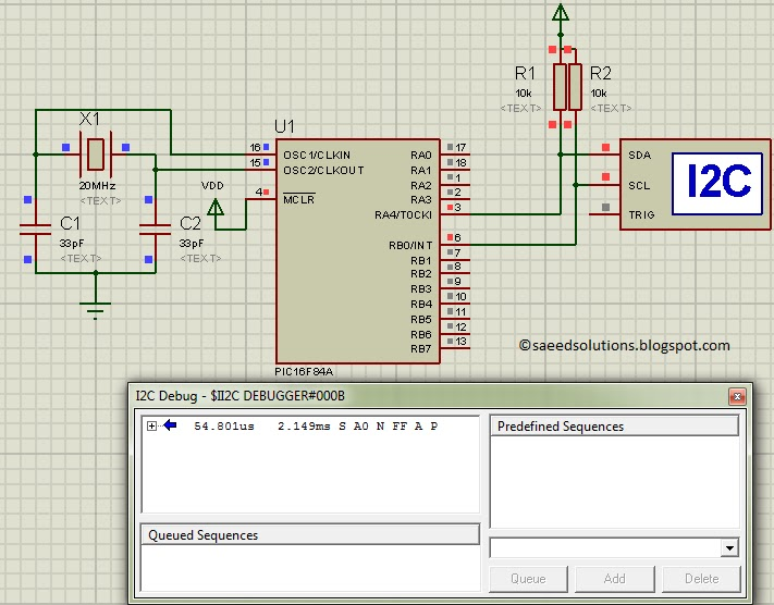 PIC16F84A i2c (bit banging) code + Proteus simulation | Saeed's Blog